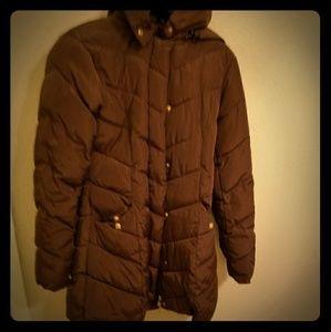 Brown Puffy Steve Madden Thinsulate Winter Coat